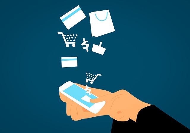 nákupy v mobilu
