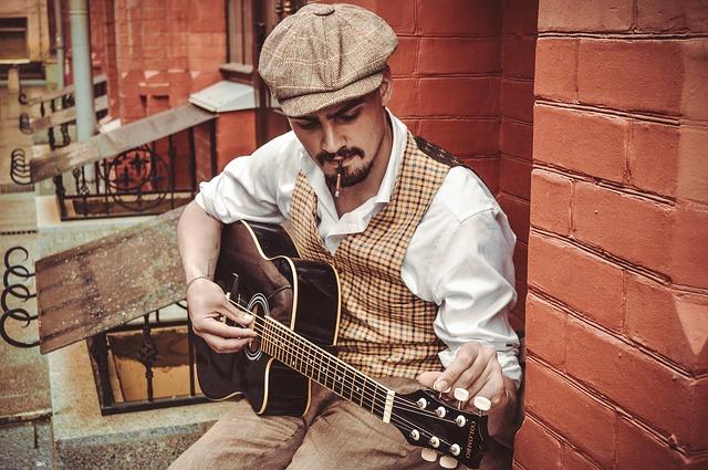 pouliční kytarista